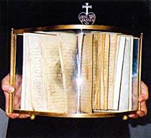 manuscrito de la autobiografía de santa Gema quemada por el demonio